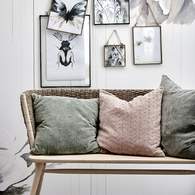 丹麥Lene Bjerre 編織休憩扶手長椅