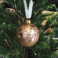 丹麥LeneBjerre 耀金網狀聖誕裝飾球