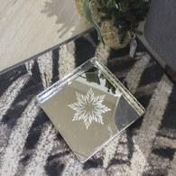 丹麥LeneBjerre 銀雕圓形花窗托盤(長17.5公分)