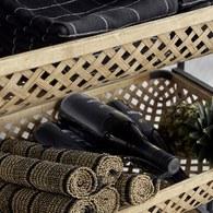 丹麥Nordal 日式竹編置物收納推車