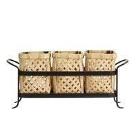 丹麥Nordal 日式竹編置物收納籃