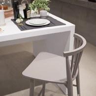 丹麥Sketch 鏤空椅背高腳吧台椅 (灰)