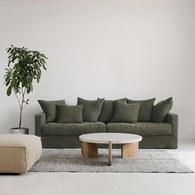 丹麥Sketch Sloopy自由氣息法式三人沙發(軍綠)