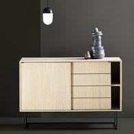 丹麥WOUD Virka幾何線條櫥櫃 (原木)