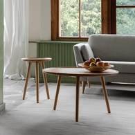 波蘭Sits 三腳支撐橡木圓形邊桌 (直徑80公分)