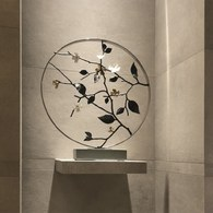 美國Michael Aram 30週年紀念款 白琺瑯山茱萸花窗月拱門擺飾品