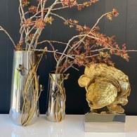 美國MichaelAram 黑色鳶尾花造型花器 (高35公分)