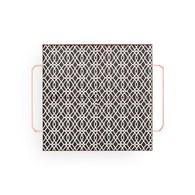 西班牙GanRugs 復古花磚圖紋托盤 (黑白)