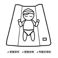 西班牙Nobodinoz有機棉 寶寶防水尿布更衣墊 (藍月小太陽)