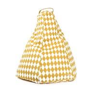 西班牙Nobodinoz 金字塔小懶骨頭沙發 (幾何方塊黃)