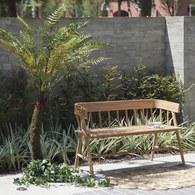 荷蘭HkLiving 雙人簡約花園長凳 (棕)