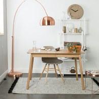 荷蘭Zuiver簡約木作延伸餐桌(梣木、長180公分)