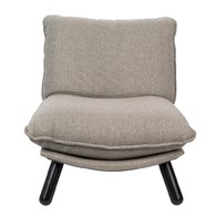 荷蘭Zuiver慵懶布面休閒單椅(灰)