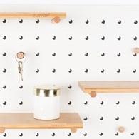 荷蘭Zuiver北歐風收納壁板層架組(白)