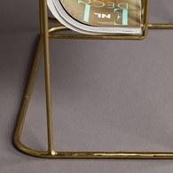荷蘭Zuiver 奢華亮金飾面邊桌雜誌架