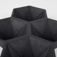 荷蘭Zuiver 立體六角多面切割置物托盤(黑)