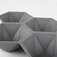 荷蘭Zuiver 立體六角多面切割置物托盤(灰)
