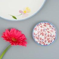 荷蘭FloraCastle 田野紅花叢圖紋甜點盤 (直徑10公分)