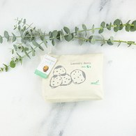 EarthFriend 洗衣小籃莓/ 150g-100洗以上 (本色木鈕扣食物棉袋)