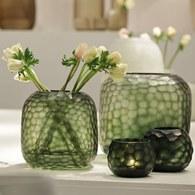 德國Guaxs玻璃花器 SOMBA系列 (墨綠、高20公分)