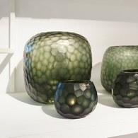 德國Guaxs玻璃花器 SOMBA系列 (墨綠、高26公分)