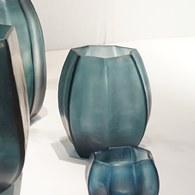 德國Guaxs玻璃花器 KOONAM系列 (洋藍、高16公分)