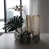 德國Guaxs玻璃花器 YAVA系列(淺褐、高48公分)