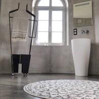 荷蘭HkLiving 復刻歐風花磚圓形浴室防滑地墊