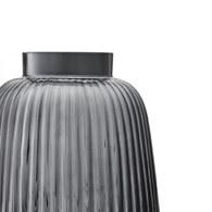 英國 LSA 小皺褶窄口花器(沉穩灰、高26公分)