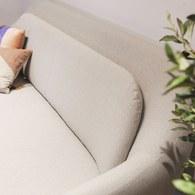 夏馬選物ShiamalSelect 歐風木質緣飾三人沙發 (灰)