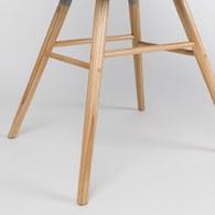 荷蘭Zuiver 艾伯特簡約弧形單椅 (淺灰)