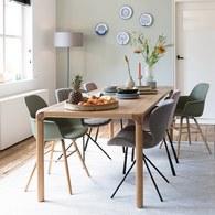荷蘭Zuiver倒角設計餐桌(梣木、長180公分)