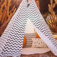 西班牙Nobodinoz 帳篷 (鋸齒線條藍)