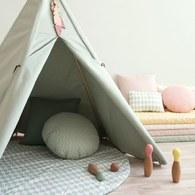 西班牙Nobodinoz 印第安帳篷兒童遊戲屋 (普羅旺斯綠)