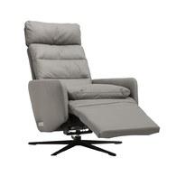 波蘭Sits 生活玩家皮革扶手電動椅 (亮灰)