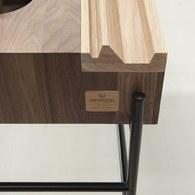 葡萄牙WEWOOD 簡約長形邊桌 (深橡木)