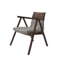 葡萄牙WEWOOD PENSIL千鳥格核桃木休憩椅 (紅+黑)