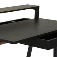 葡萄牙WEWOOD 滑動式收納書桌 (黑橡木)